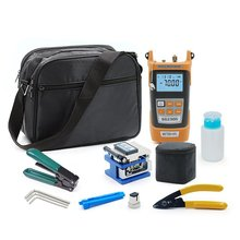 Fiber Optic Ftth Tool Kit With FC-6S Fiber Cleaver And 5mw Optical Power Meter Visual Fault Locator Wire Stripper CFS-2
