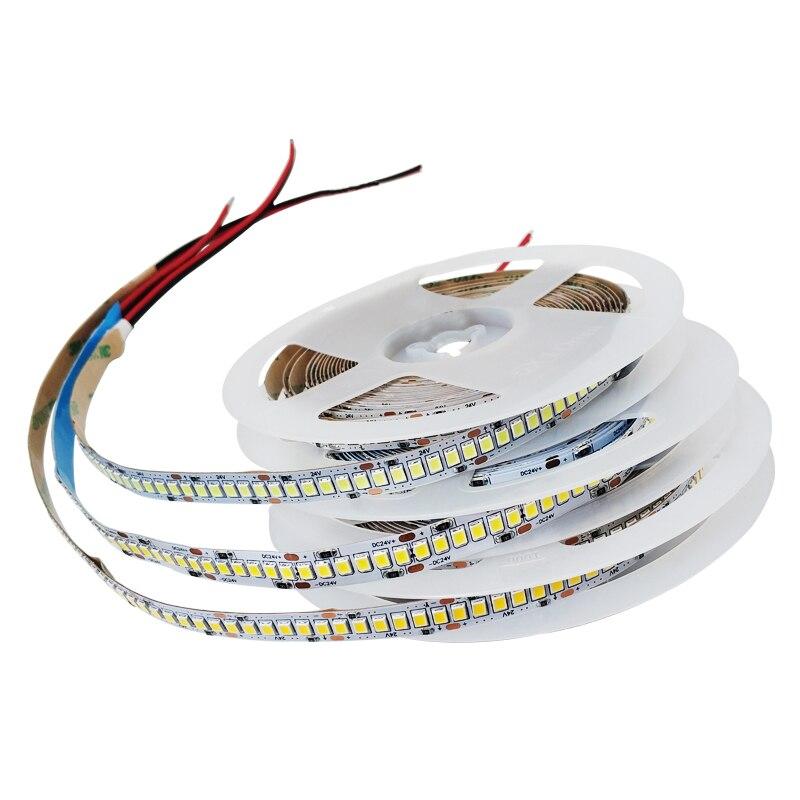 DC 5V 12V 24V SMD 2835 RGB Led Strip Light 5m White LED Strip Tape Waterproof Lamp Light Strips Kitchen Home Decor TV Ledstrip