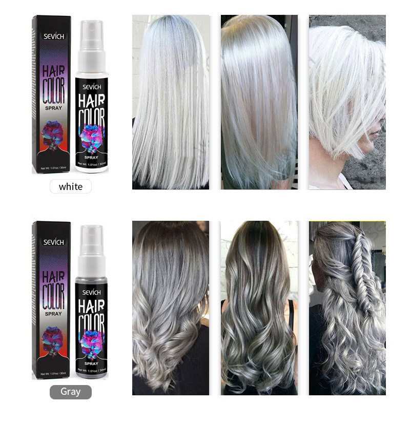 Portable Quick Hair Coloring Spray Glitter Party Cosplay Hair Styling Dry Color Non-greasy Spray Waterproof Easy To Use TSLM1