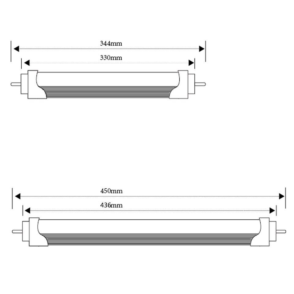 Купить с кэшбэком Led Tube T8 LED Tube 344mm 450mm High Power Led Tube Light Lamp Home 1feet LED Tube T8 4W 6W G13 AC 100-240V 220V SMD2835