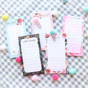Domikee New cute Korean flower sereise fridge magnetic memo pad candy office school sticky planner note pad stationery supplies