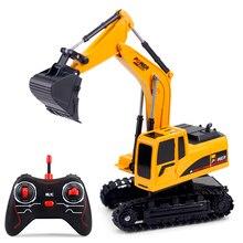 GOOLRC 1/24 RC экскаватор RC грузовик экскаватор строительный трактор металлическая Лопата детская игрушка со светом и звуками