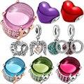 HEIßER 2021 Neue 925 Sterling Silber Perlen Valentinstag Charms Fit Original Pandora Armband DIY Schmuck Geschenk