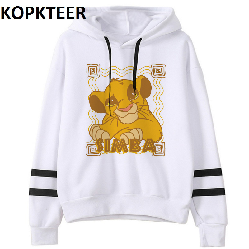 Women Fashion Hoodies Simba Cub The Lion King Graphic Sweat Femme Harajuku White Hoodie Sudadera Mujer Sweatshirt Plus Size