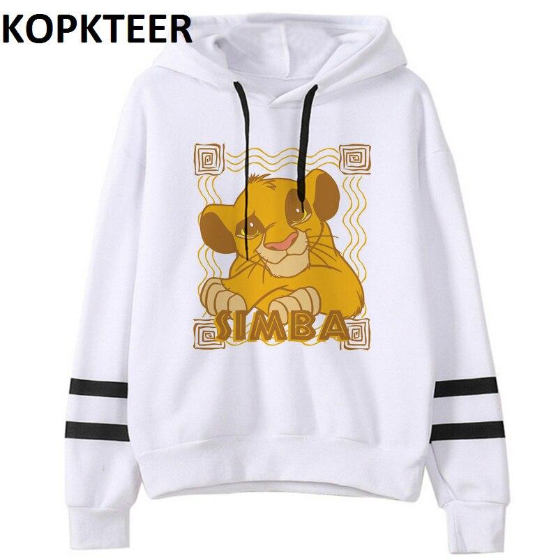 Women Fashion Hoodies Simba Cub The Lion King Graphic Sweat Femme Harajuku White Hoodie Sudadera Mujer Sweatshirt Plus Size
