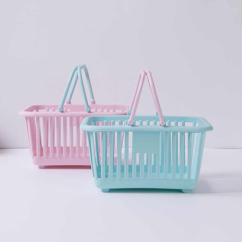Bath Basket And Multi-functional Plastic Basket Portable Toys Receive Fruit Basket Basket Bathroom Storage Basket