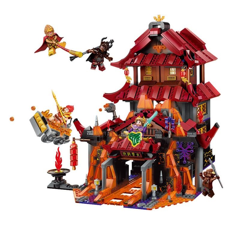 Enlighten Journey West Wukong Series Combat Defeat The Demon Model Building Blocks Educational DIY Toys Bricks Gift For Children