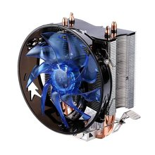 CPU Radiator Cooler Pure Copper Double Heat Pipe CPU Radiator Brass Tower CPU Fan Cooling for INTEL 775/1155/1156/1151/1150/1366(China)