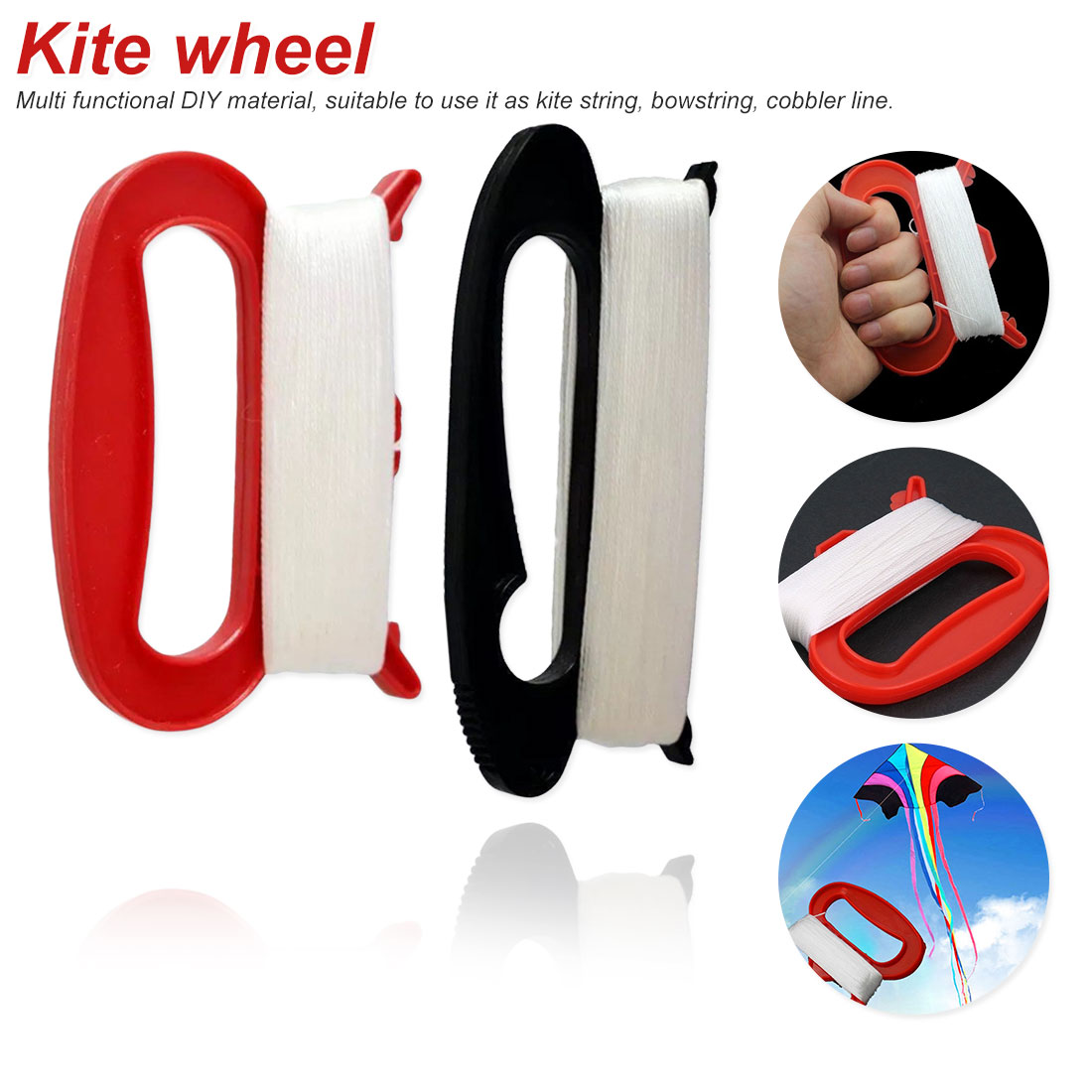 New Kite Line String 30 To 100M  Kid Outdoor Flying Kite Letter D Shape Handle Line String Family Outdoor Sports Tools
