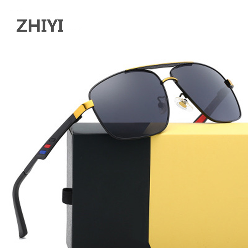 ZHIYI Brand Polarized Photochromic Sunglasses HD Men Driving Glasses Fashion Square Sun Glasses Anti-light Eyewear UV400 Goggles