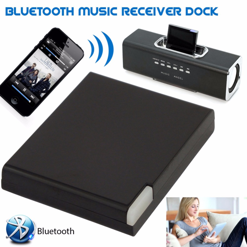 Für iPhone Stereo Smartphone Adapter Bluetooth V2.0 A2DP Musik Empfänger Adapter für <font><b>iPod</b></font> <font><b>30</b></font> <font><b>Pin</b></font> <font><b>Dock</b></font> Docking Station Lautsprecher image
