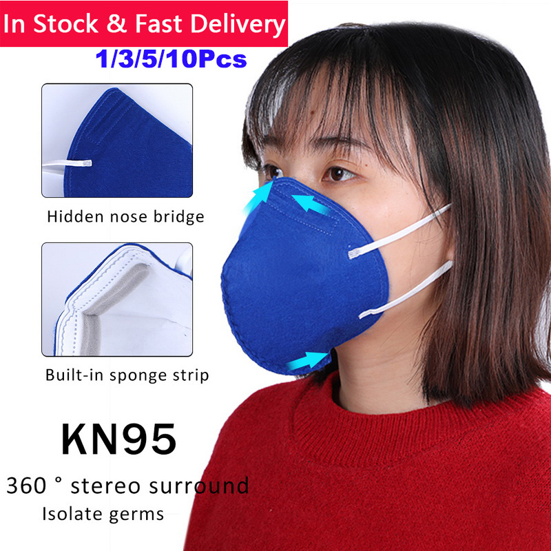 In Stock!  1/3/5/10pcs Mask KN95 PM2.5 Anti Virus Formaldehyde Bad Smell Bacteria Proof Face Mouth Mask Delivery Within 48 Hours