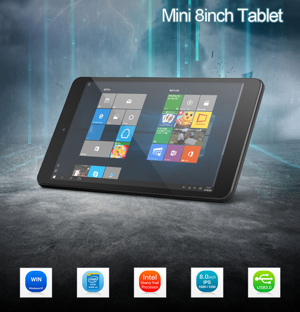 Original W2pro Windows 10 Tablet PC 8 Inch 1920 X 1200IPS Intel Cherry Trail Z8350 2GB RAM 32GB ROM Dual Camera GPS Mini PC HDMI