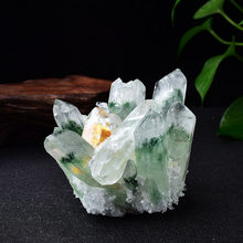 Natural Crystal Cluster Ore Specimens Yellow Green Quartz Reiki Energy Stone Raw CrystalsHome Decor Collect Gifts 1PCS