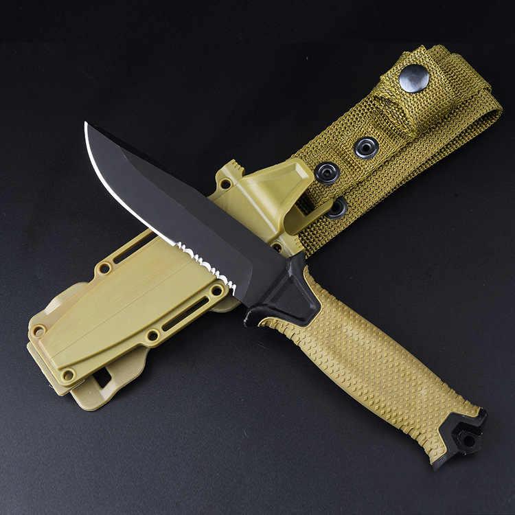 Askeri taktik sabit bıçak bıçak ABS kolu 12C27 bıçak açık Survival avcılık savaş bıçakları ordu EDC aracı