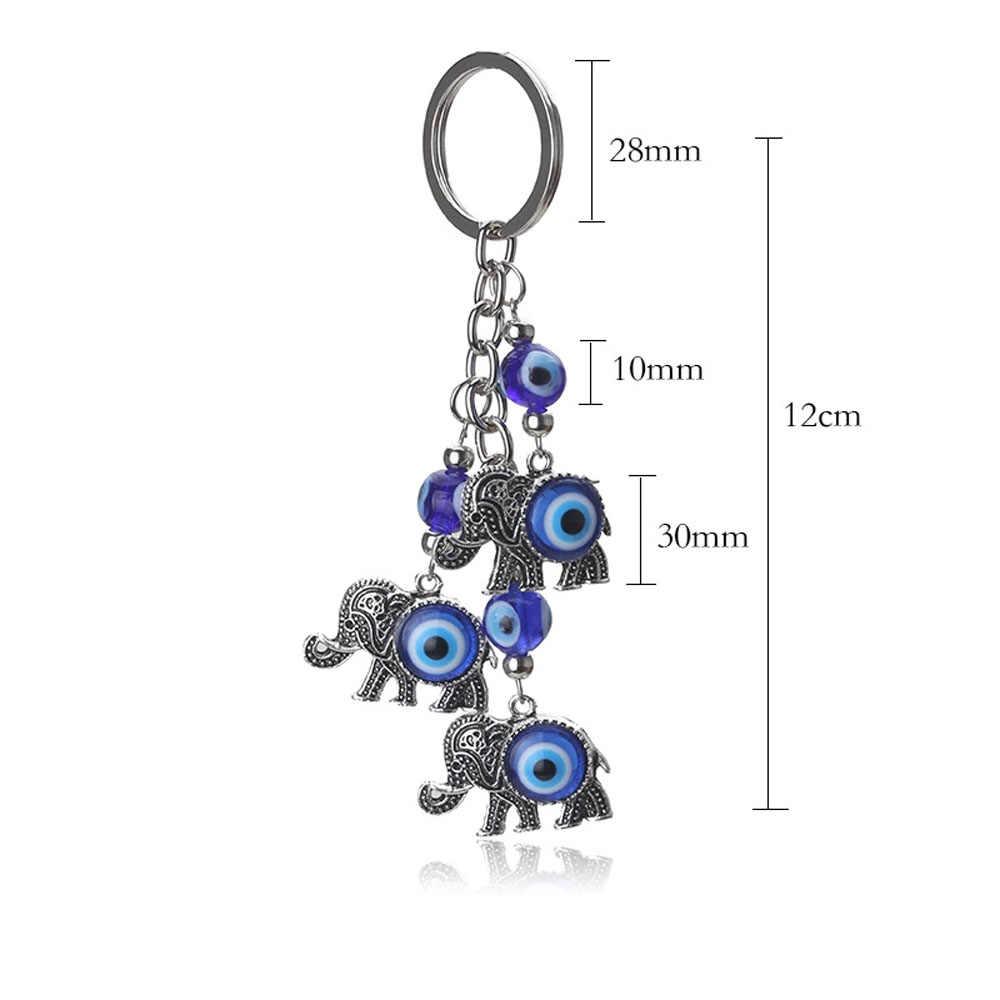 นกฮูกสีฟ้า Lucky Charm Protection พู่แขวนคริสตัล Key CHAIN แฟชั่นจี้ Key CHAIN Palms รูปร่างเครื่องประดับ
