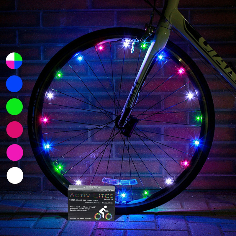 Rechargeable LED Lights Bike Wheel Kid Children Bike Bicycle Lamp Fun Cycling