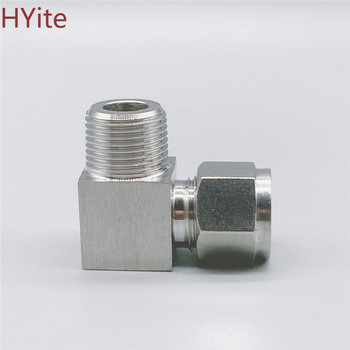 304 SS Stainless Steel Elbow Double Ferrule Tube Pipe Fittings Connector 6-12mm Pipe OD to 1/8 1/4 3/8 1/2 BSPT Male Thread 1 pcs 1 8 1 4 3 8 1 2 npt bspt male thread x inch tube od pneumatic kitchen pipe compression plug connector fitting sus 304