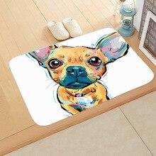 New Cartoon Style Lovely Dog Painting Dogs Print Carpets Anti-slip Floor Mat Outdoor Rugs Animal Front Door Mats 40x60cm