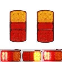 2 pces 12 v à prova ddurable água durável caminhão do carro led traseiro luz da cauda luzes de advertência para caravanas de reboque campistas atv