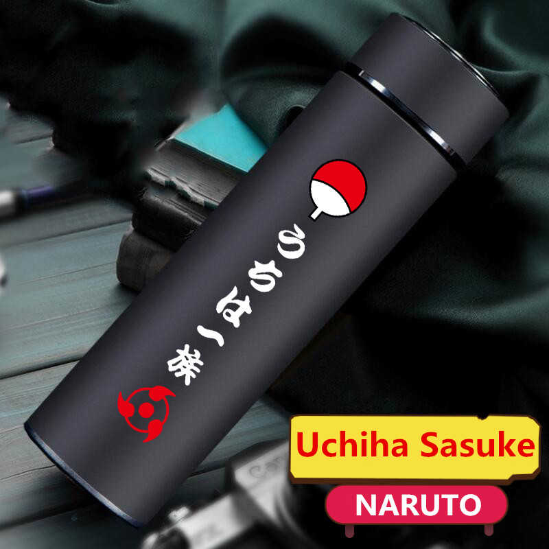 Anime NARUTO Uchiha Sasuke Cosplay Props Sharingan Stainless Steel Water Cup Teens Drink Coffee Thermos Cup Bottle Gifts New