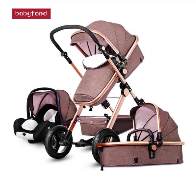 Russia warehouse direct ship!  Fast delivery baby stroller 3 in 1  baby stroller on hot sell|Four Wheels Stroller| |  - title=