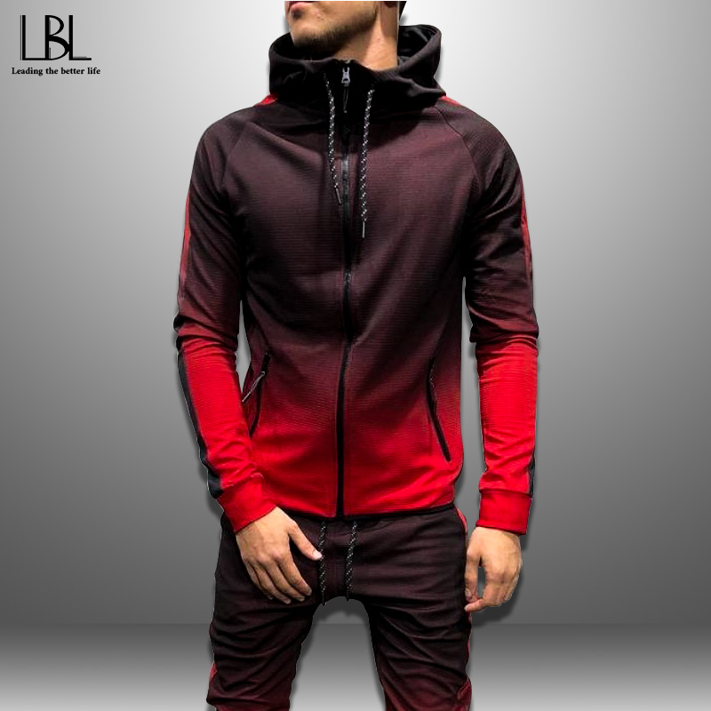 2019 Mens Hoodies 3D Gradient Casual Hooded Sweatshirt Men Streetwear Hoodie Hip Hop Tracksuit New Fashion Top Autumn Sportswear