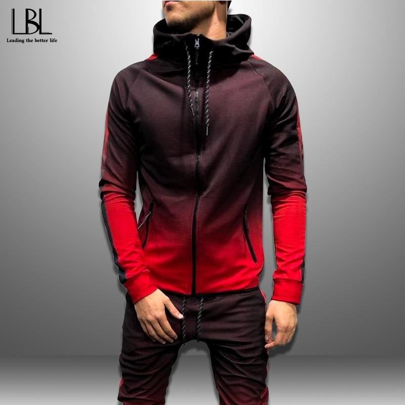 2019 Mens Hoodies 3D Gradient Casual Hooded Sweatshirt Men Streetwear Hoodie Hip Hop Tracksuit New Fashion Top Autumn Sportswear