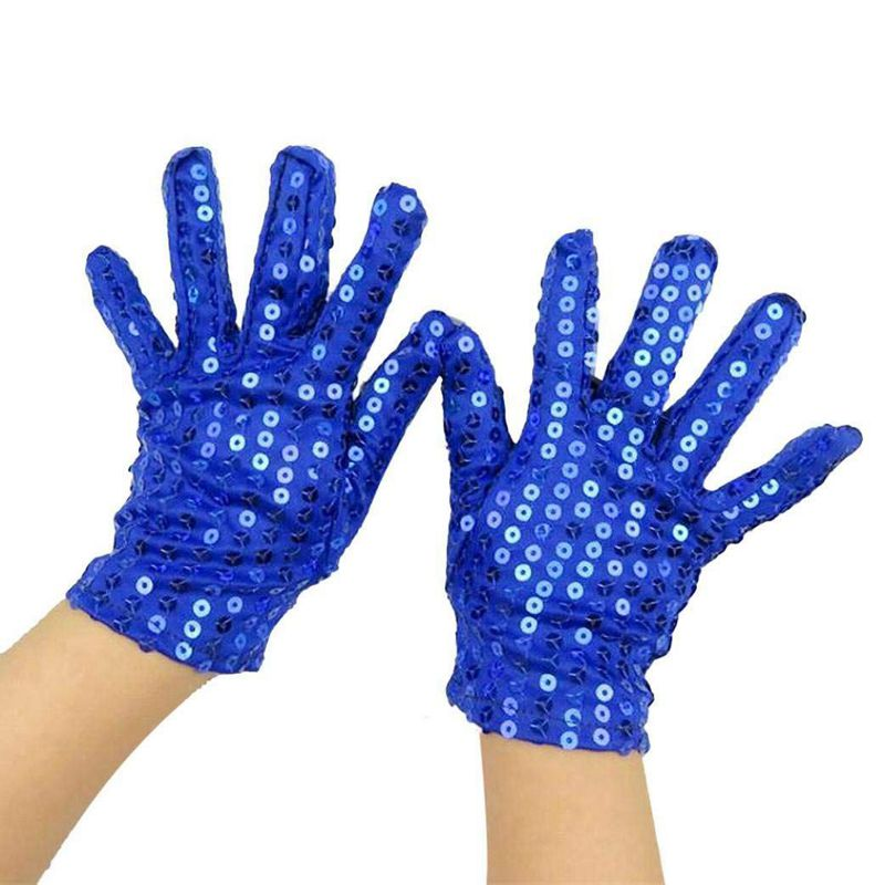 Woman Full Finger Sequins Show Jazz Dance Gloves Mittens