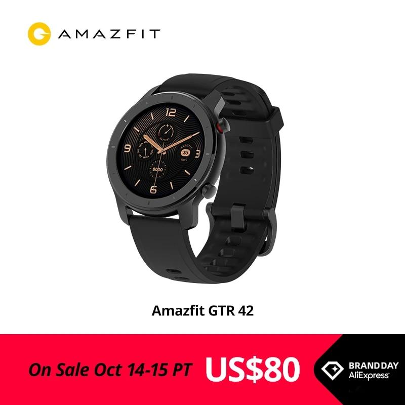Global Version Amazfit GTR Smart Watch GPS Music 12 Days Battery 5ATM Man Woman Watch-42mm