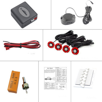 Car Reverse Parking Sensor Wireless Kit With 4 Sensors For mazda 6 gh hyundai accent haval f7x rav4 2019 2020 ford mondeo 4 image