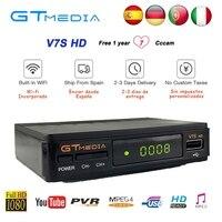 dvb digital 1 שנת אירופה 7 קליינס שרת GTMedia V7S HD Digital Satellite Receiver DVB-S2 V7S HD מלאה WIFI USB 1080P + שדרוג תיבת V7 Freesat (1)