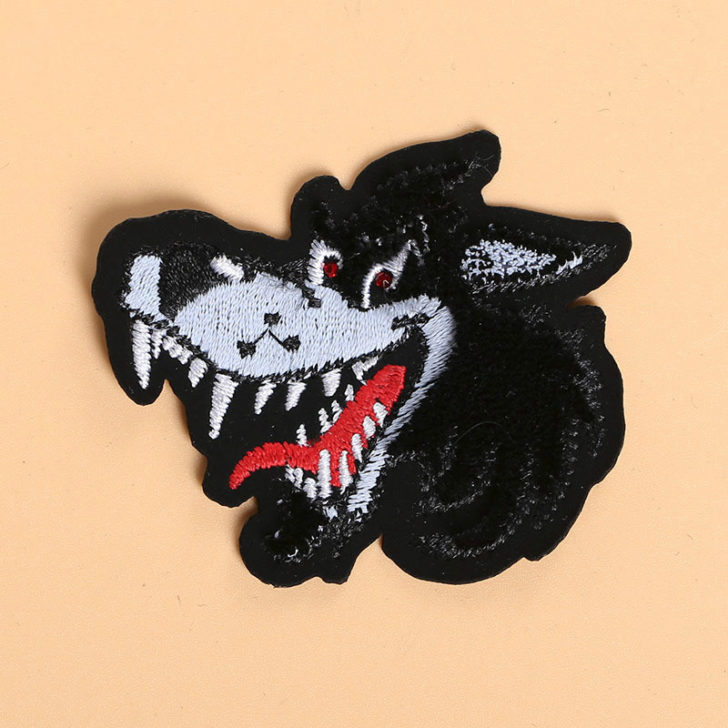 Embroidery Patch Toothbrush Embroidered Clothes Patch Stickers Computer Chapter Diy Decorative Animal Embroidered Towel