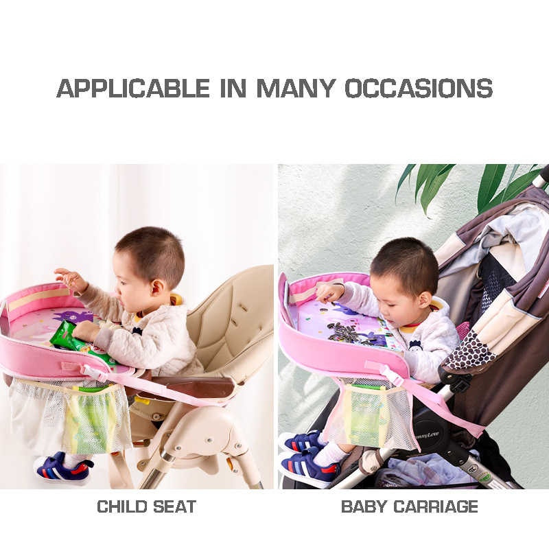 Baby Car Seat Tray Stroller Kids Toy Food Water Holder Desk Children Portable Table For Car Waterproof Child Table