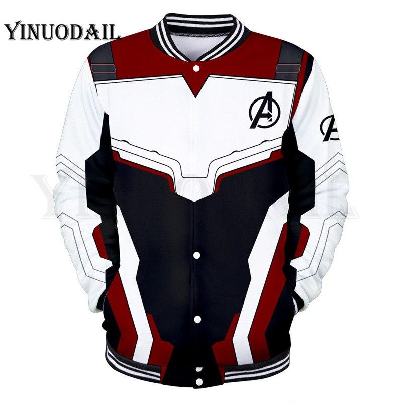 Avengers Endgame Jacket Quantum Realm Costumes Marvel 3D Mens Hoodies Sweatshirt Hoody Streetwear Poleron Avenger End Game