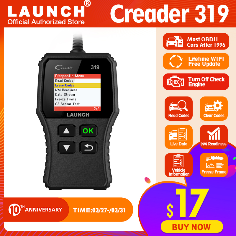 LAUNCH X431 Creader 319 Full OBD2 Scanner OBD EOBD Auto Code Reader CR319 Diagnostic tool Car Scan tool PK CR3001 AD310 ELM327