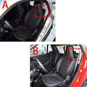 Image 3 - רכב עור מושב כיסוי פנים קישוט סטיילינג אביזרי עבור 2015 2019 מרצדס חכם 453 fortwo הגנת כרית