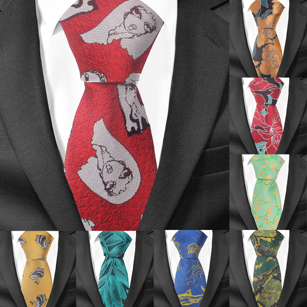 New Fashion Tie For Men Woemn Polyester Cartoon Neck Tie For Wedding Business Suits Classic Ties Slim Men Necktie Adult Gravatas