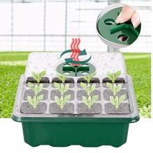 12 Hole Grow Box Garden Nursery Pots Seed Tray Planter Nursery Germination Box Moisturizing Planting Tray Seedling Starter