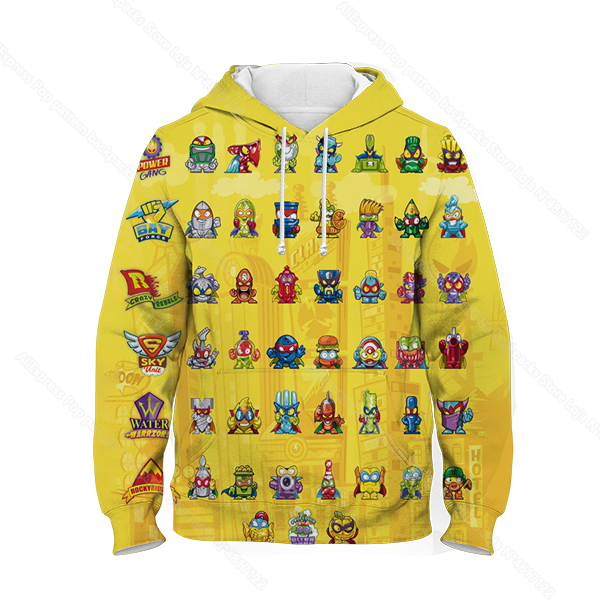 Kids 3D Print Super Zings Hoodie Autumn Winter Children Superzings 6 Series Sweatshirt Sudadera Boy Girl Cartoon Anime Pullover 14
