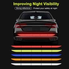 Autocollant réflecteur réfléchissant pour voiture, 5 pièces, bande réfléchissante extérieure pour coffre de voiture, autocollants d'avertissement réflexe extérieur, accessoires automobiles