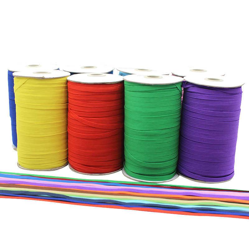 """4 jardy 1/4 """"6mm elastyczna taśma termotransferowa opaski elastyczne gumka elastyczna linia DIY koronki do wykończeń krawieckich pas biodrowy dodatki do odzieży"""