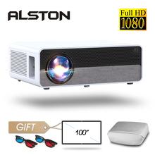 Projektor ALSTON Q9P Full HD 1080P 4K 5500 lumenów projektor kinowy Beamer Android WiFi Bluetooth hdmi VGA AV USB z prezentem tanie tanio UNIC Instrukcja Korekta CN (pochodzenie) Projektor cyfrowy 4 3 16 9 160W Brak 1920x1080 dpi 15 000 1 (dynamic) Domu Rzucanie