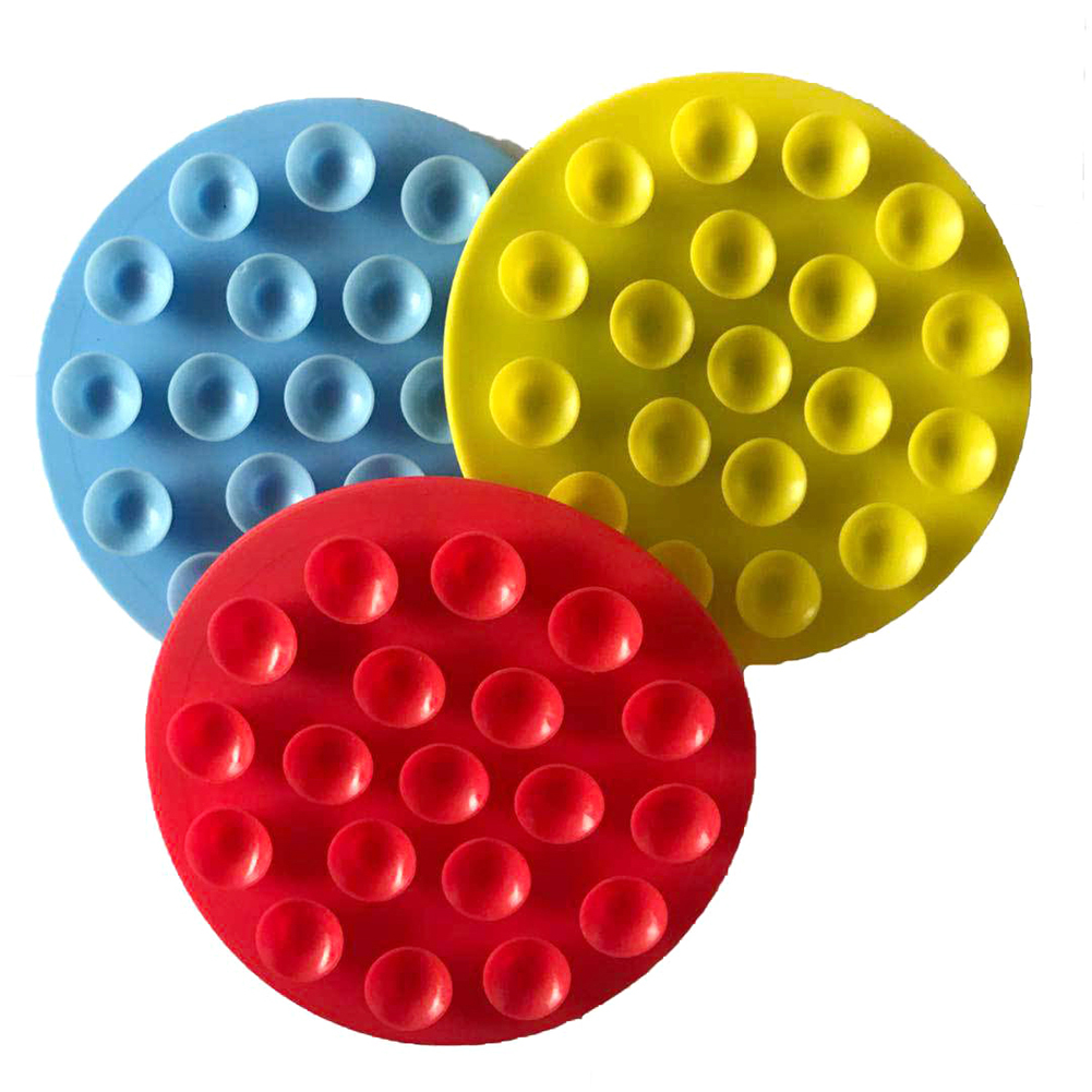TPR Double Side Strong Silicone Sucker Pad Baby Bowls Cups Non-Slip Mat Suction Cup Children's Tableware Sucker Fixing Mat