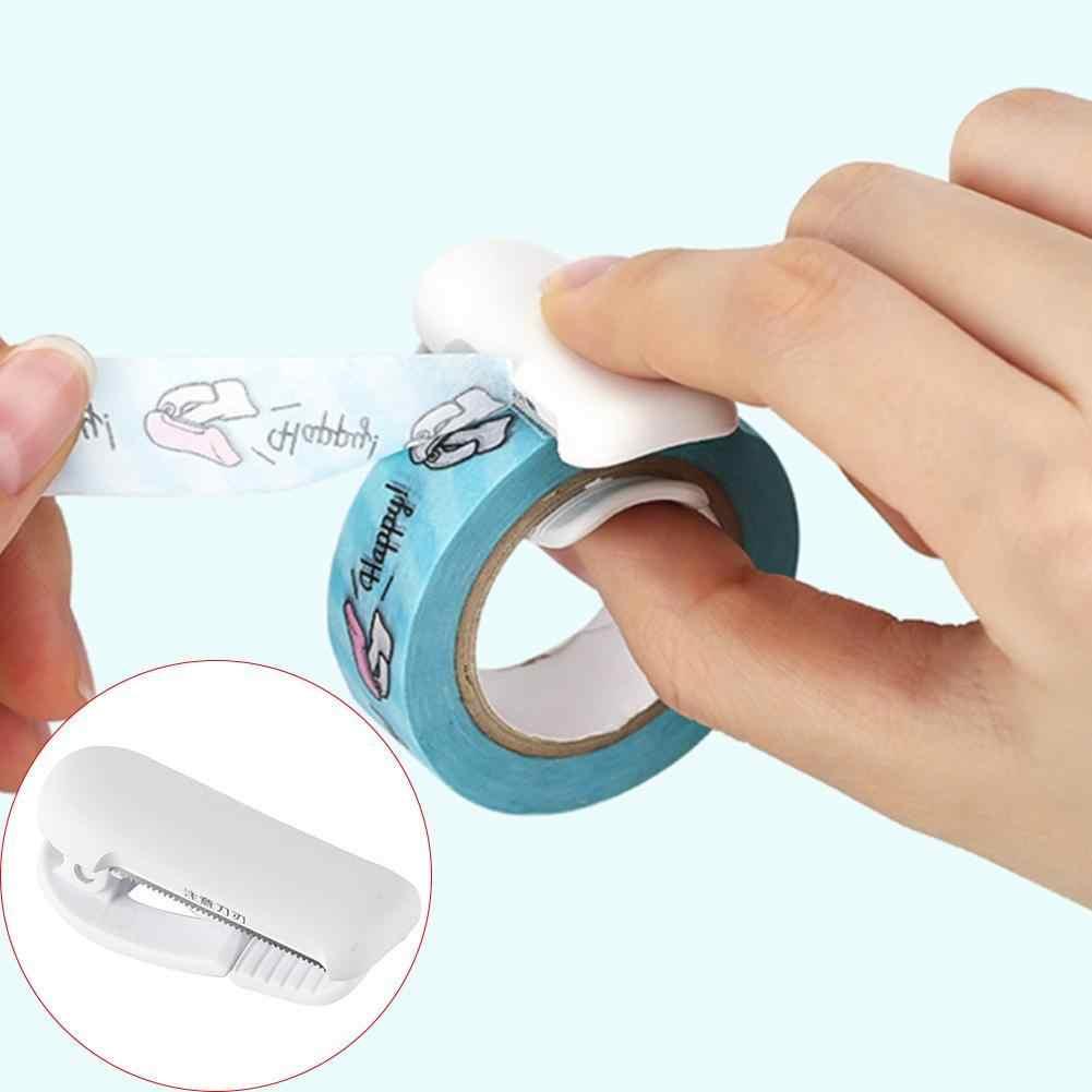 1 Uds. Mini dispensador de cinta Washi japonesa Linda para oficina de plástico portátil Kawaii