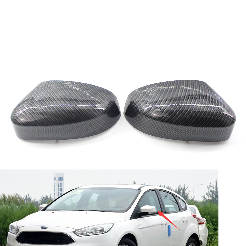 Pair of Carbon fiber Style rear Rearview <font><b>Mirrors</b></font> Cover Shell for <font><b>ford</b></font> <font><b>Focus</b></font> 12-18 <font><b>MK3</b></font> image
