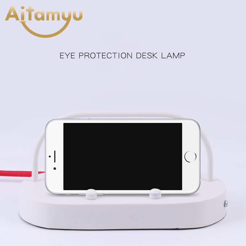 Portable Hang Lamp Wireless Charging Table Night Light Fold Adjustable Dimmable Wood Led