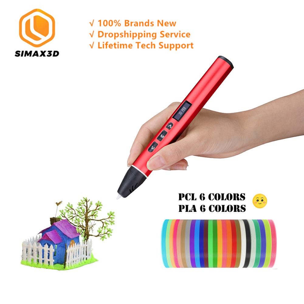 SIMAX 3D Printing Pens 12V 3D Pencil Drawing Scribble Pens 120M Filament For Kids Child Education Creation Tools Hobbies Toys title=