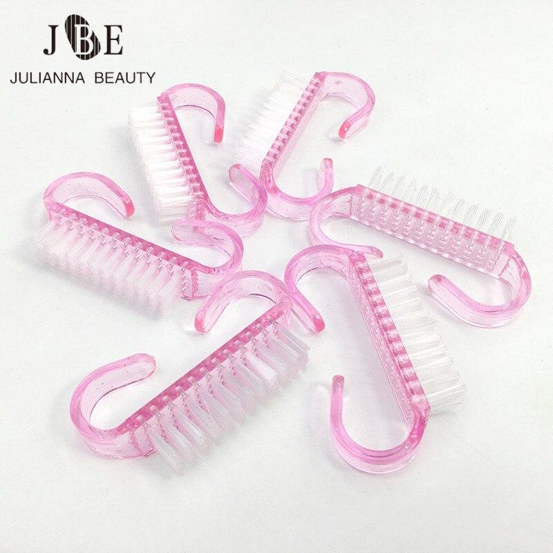 atacado 50 pcs rosa ferramenta de limpeza escova de po escova de unha unha arte cuidados