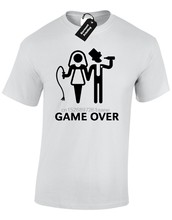 GAME OVER MENS T SHIRT FUNNY WEDDING BRIDE GROOM DESIGN GIFT PRESENT JOKE HUMOUR(China)